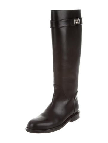 Givenchy Shark Lock Riding Boots - Shoes - GIV36754  720f6109c