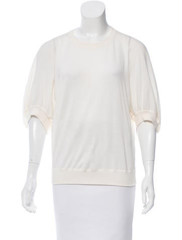 Givenchy Crew Neck Rib Knot Sweater None