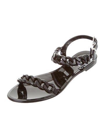 68138b573aa Givenchy Chain-Link Jelly Sandals - Shoes - GIV36880