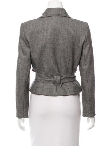 Givenchy Wool Houndstooth Jacket - Clothing
