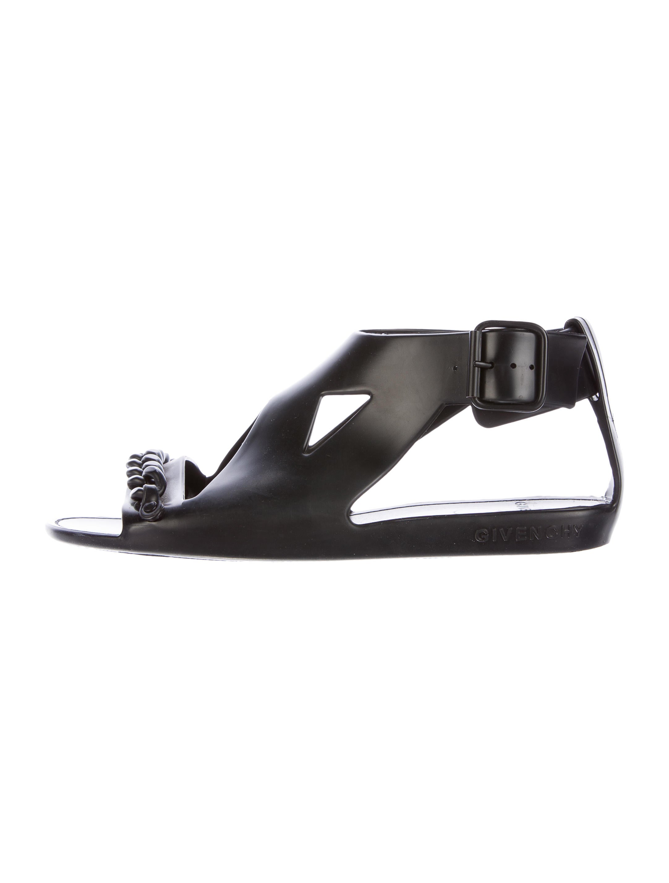 Givenchy Chain-Link Rubber Sandals