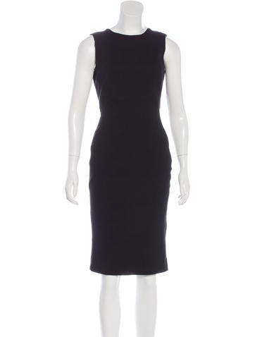 Givenchy Zip-Accented Wool Dress w/ Tags None