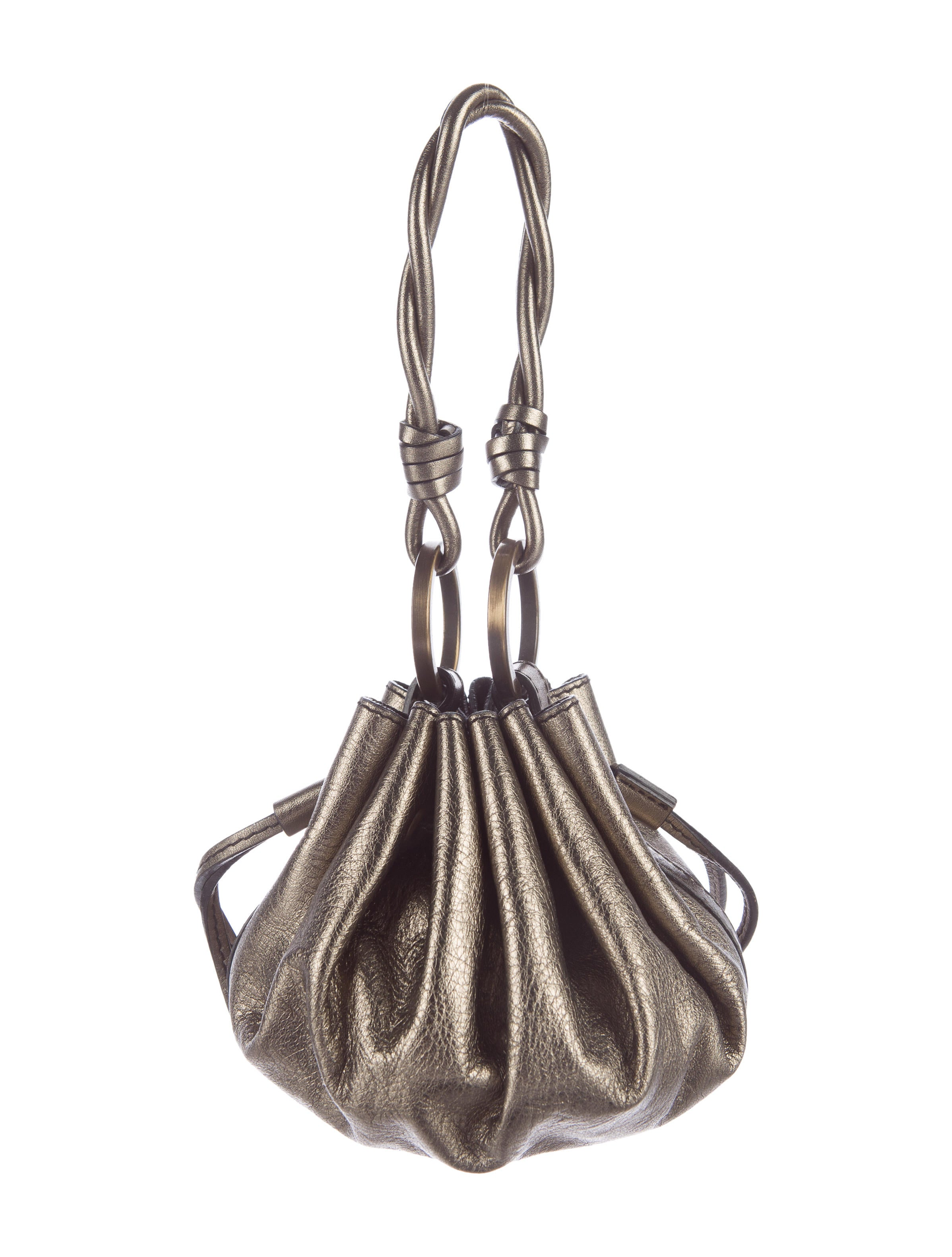 Givenchy Metallic Leather Drawstring Bag Handbags