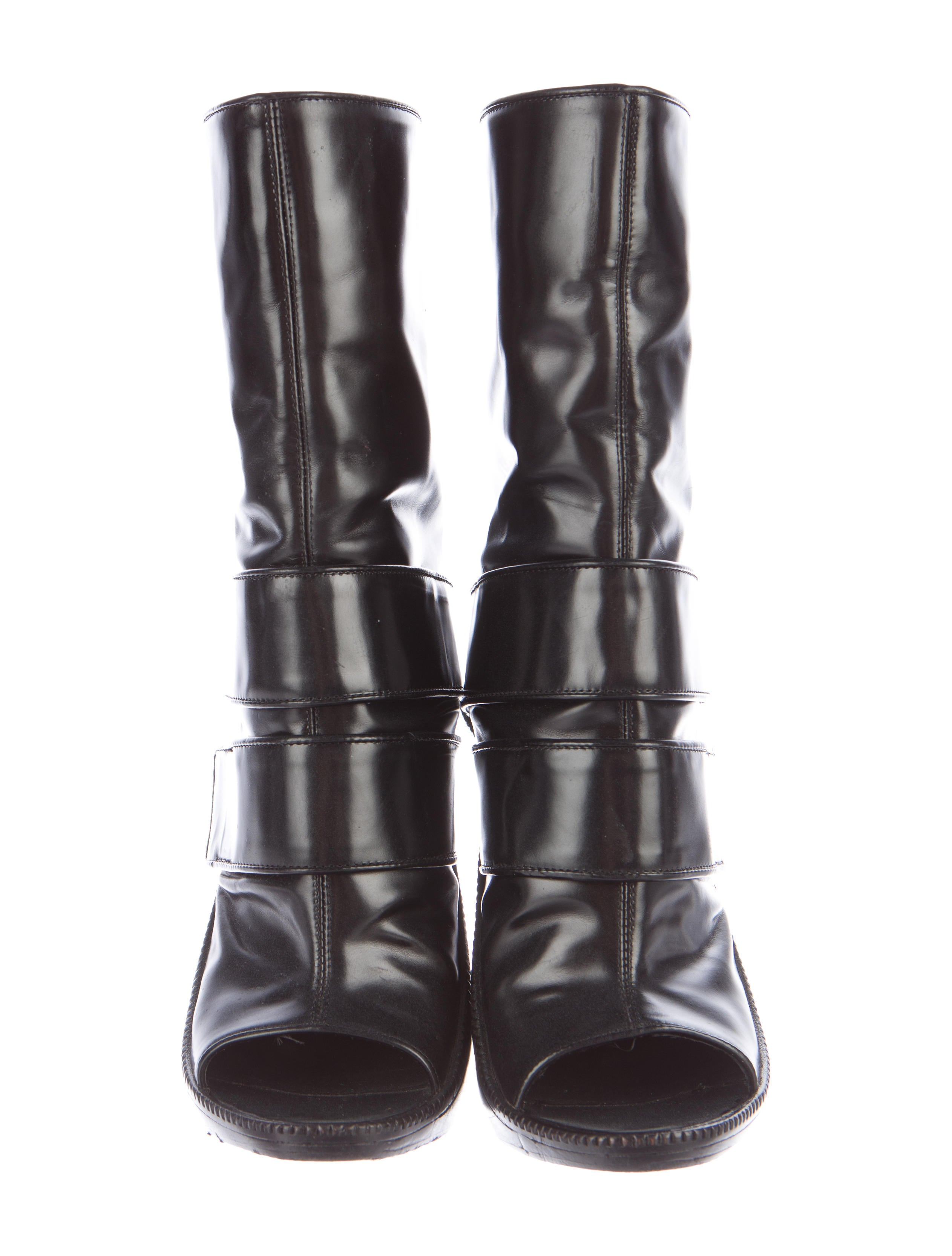 givenchy peep toe wedge boots shoes giv37309 the