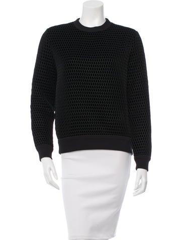 Givenchy Silk & Velvet Sweater None