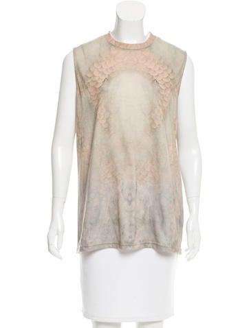 Givenchy Printed Sleeveless Top None