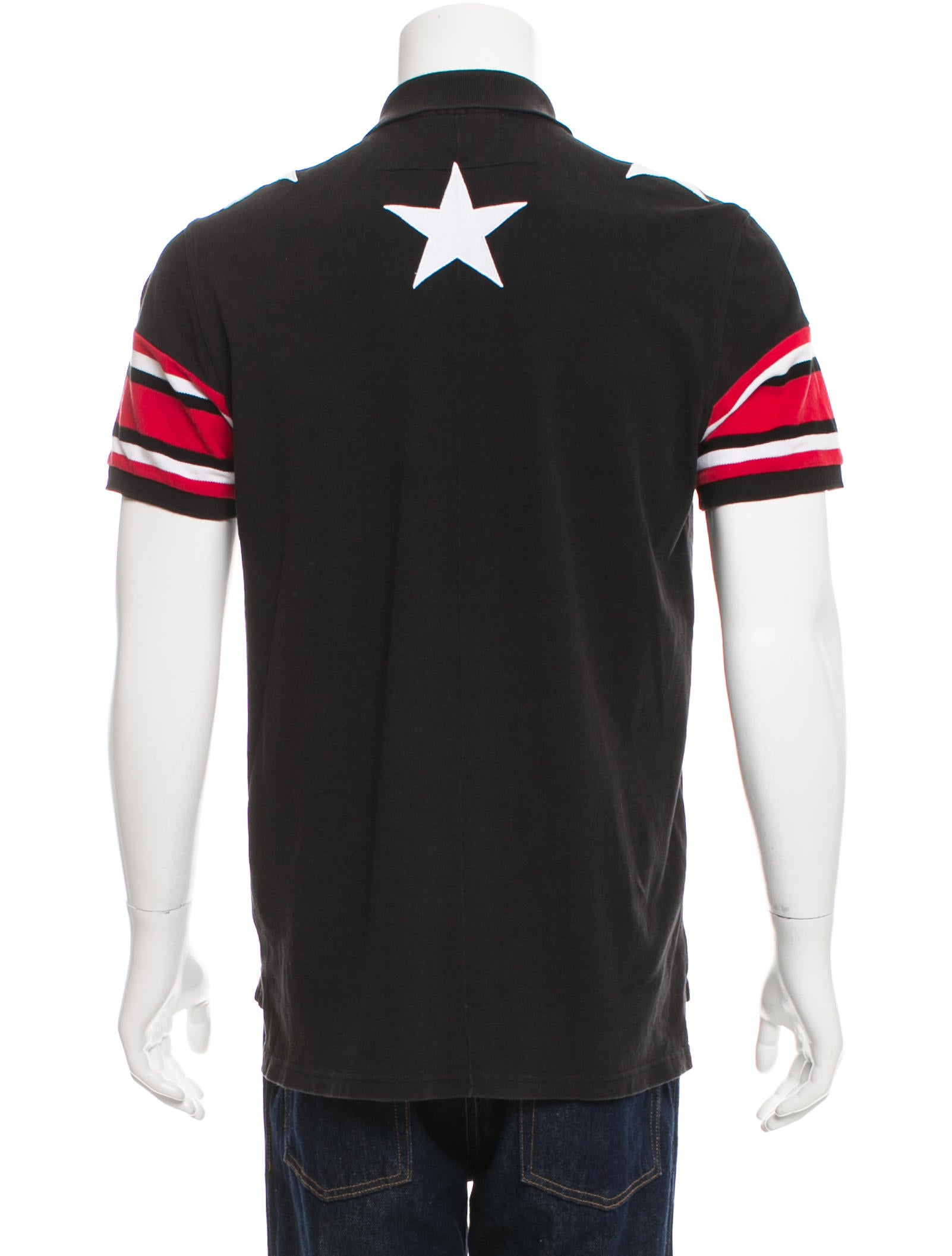 Givenchy star embroidered polo shirt clothing giv38074 for Givenchy 5 star shirt