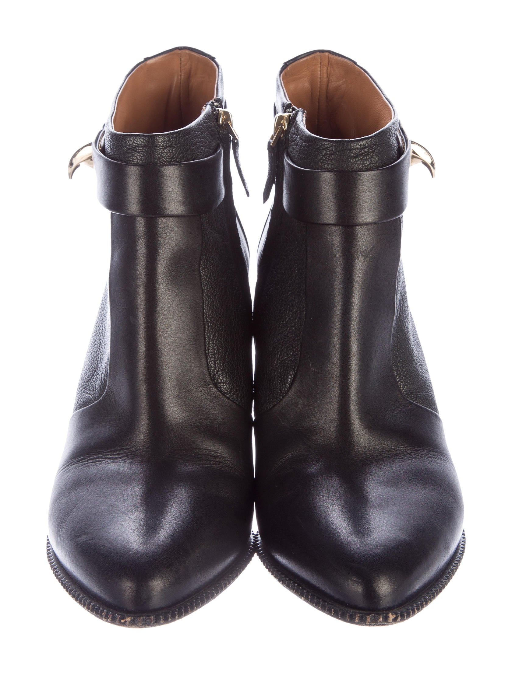 givenchy shark lock leather ankle boots shoes giv38205