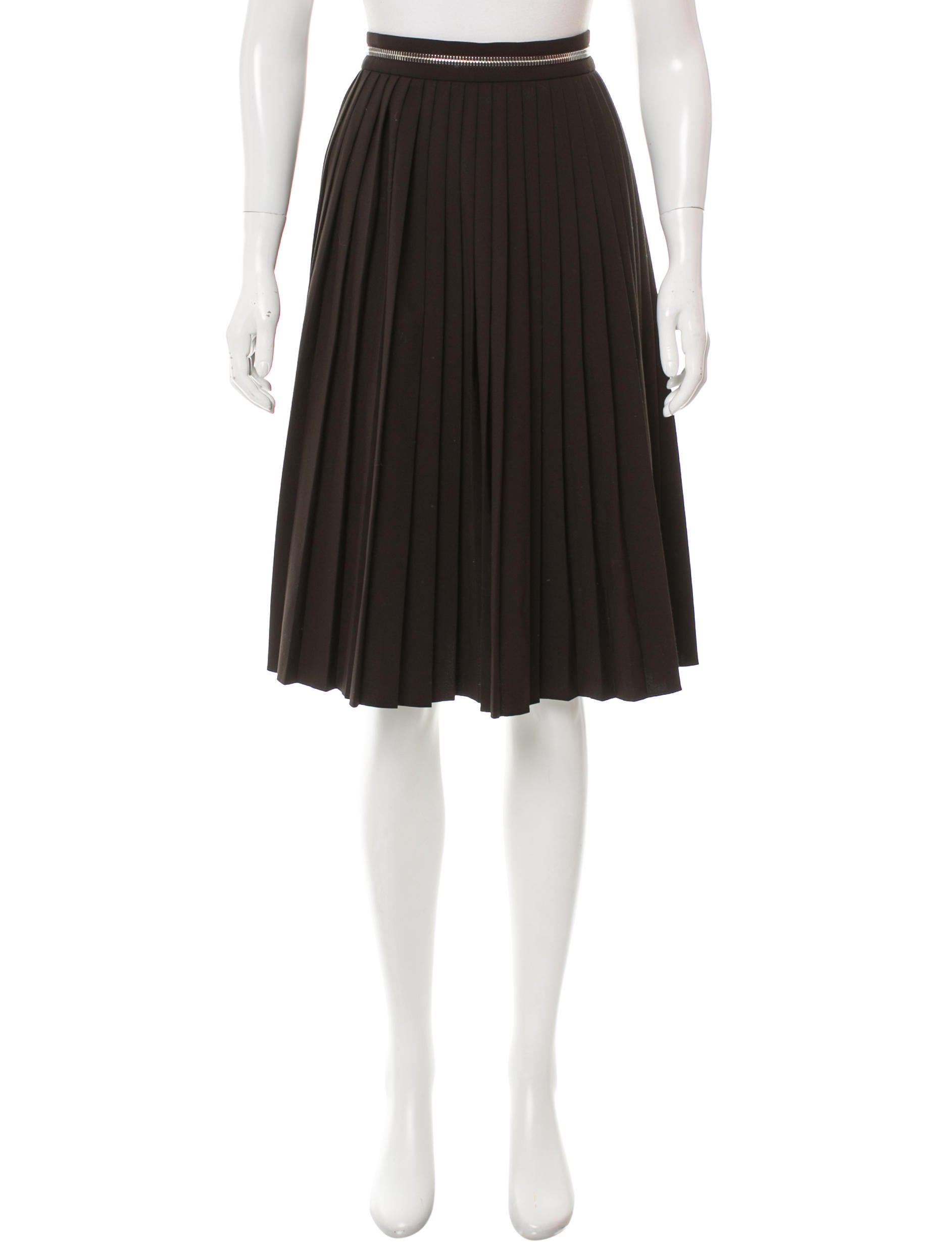 givenchy pleated a line skirt clothing giv38423 the
