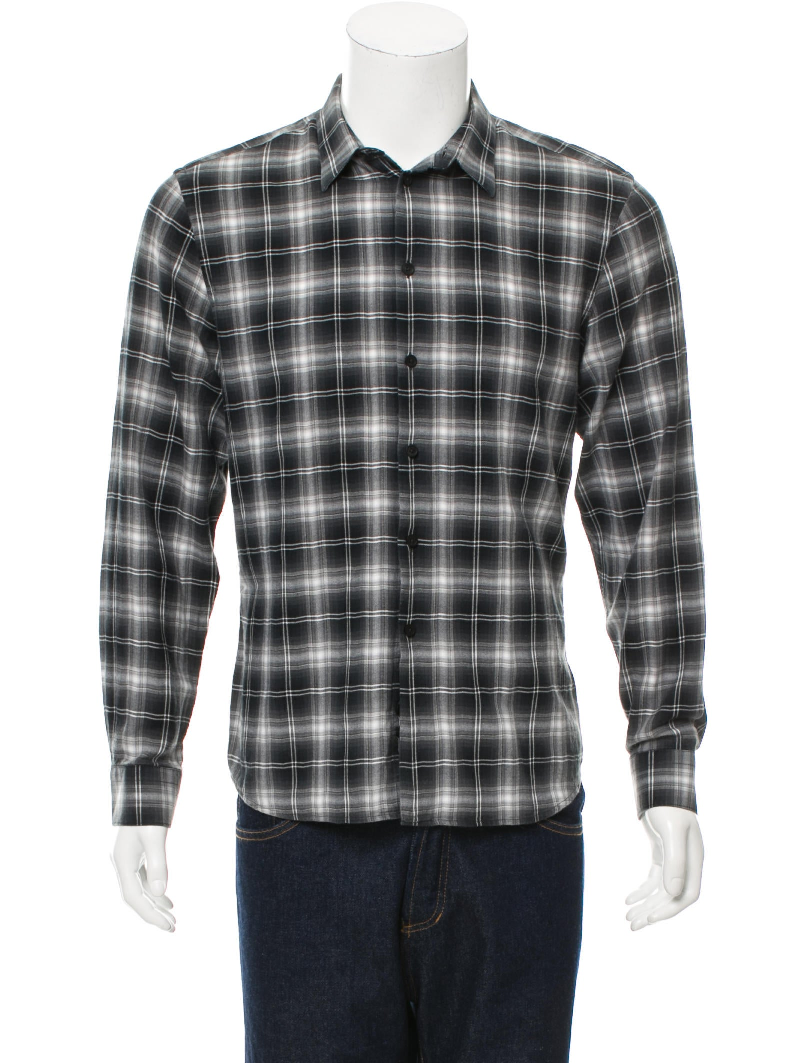 Givenchy flannel button up shirt clothing giv38803 for Button up flannel shirts