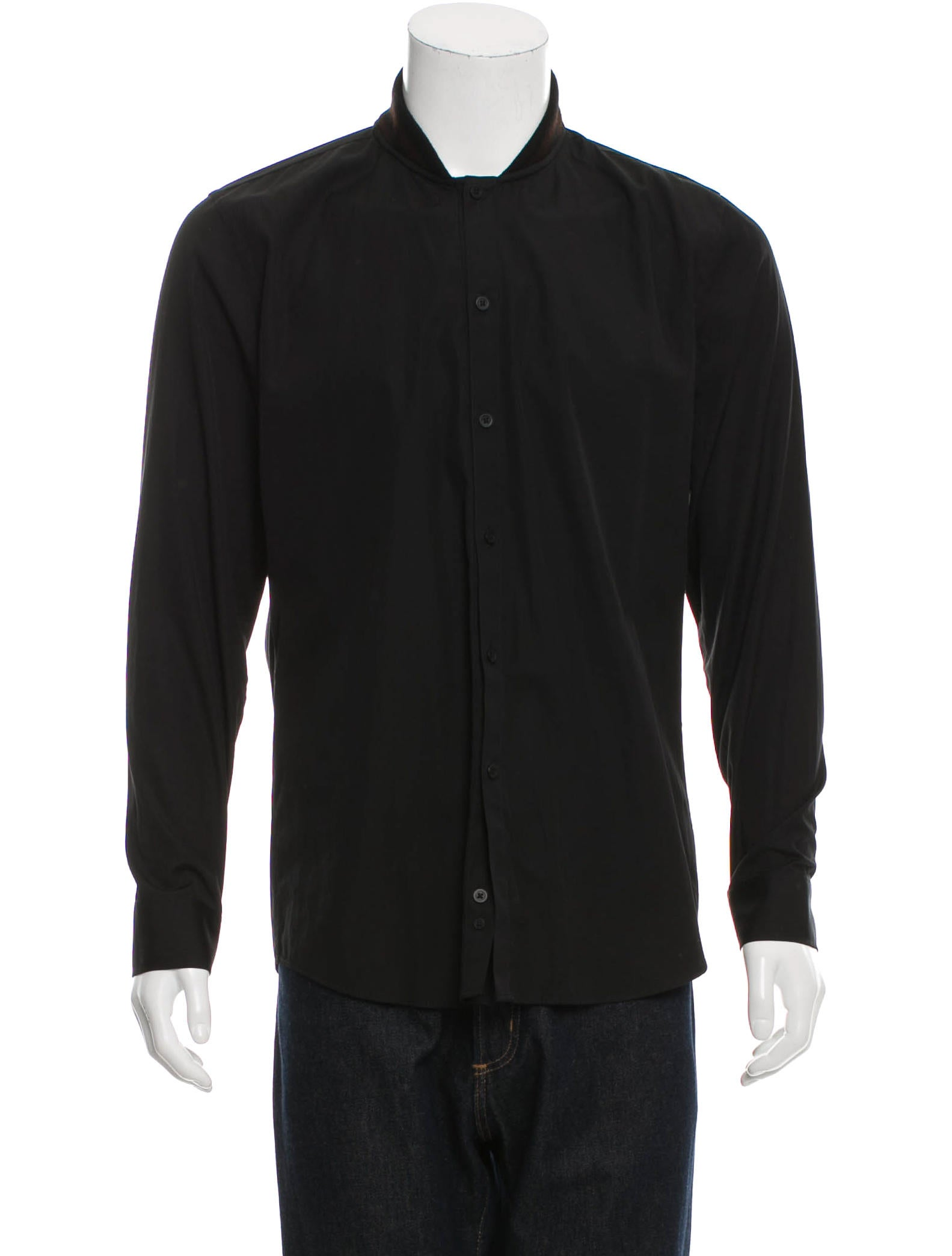 Givenchy shawl collar button up shirt clothing for Shawl collar t shirt