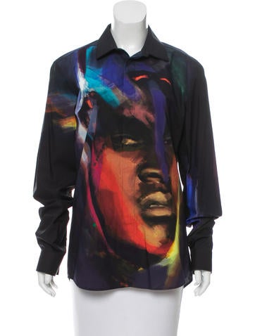 Givenchy Watercolor Portrait Top None
