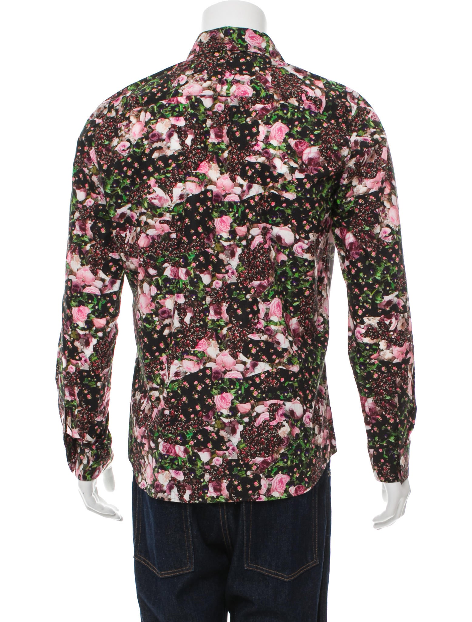 Givenchy floral print button up shirt clothing for Floral print button up shirt