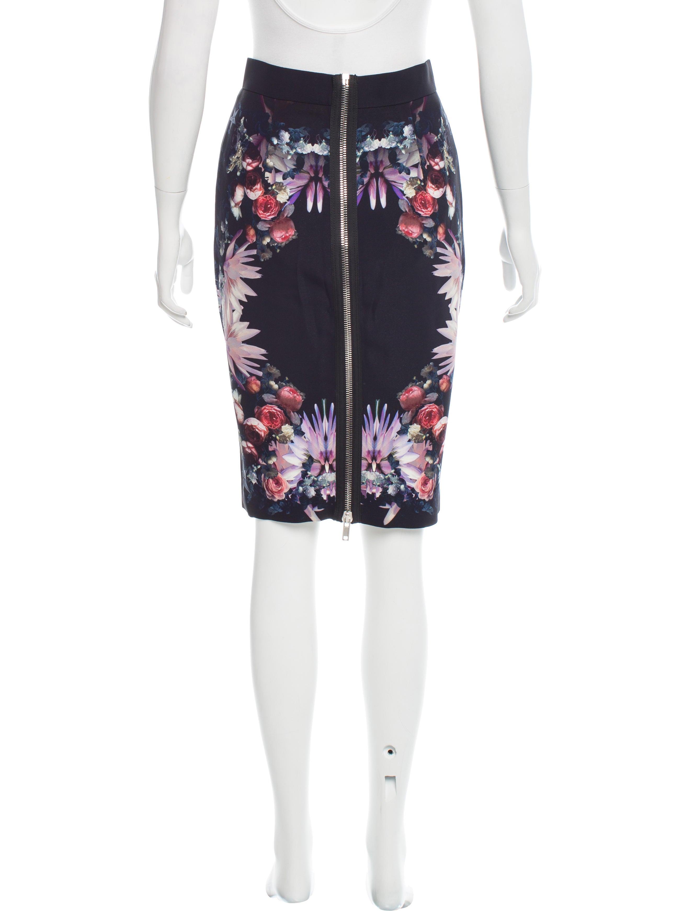 givenchy floral print pencil skirt clothing giv39225