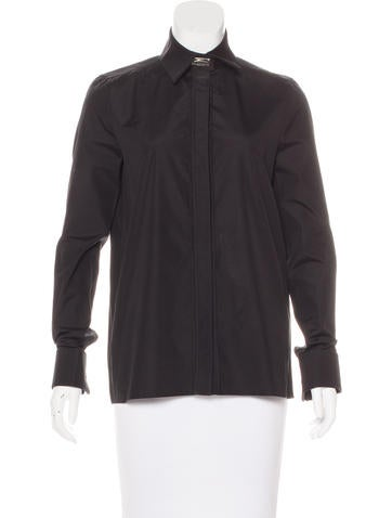Givenchy Long Sleeve Button-Up Top w/ Tags None