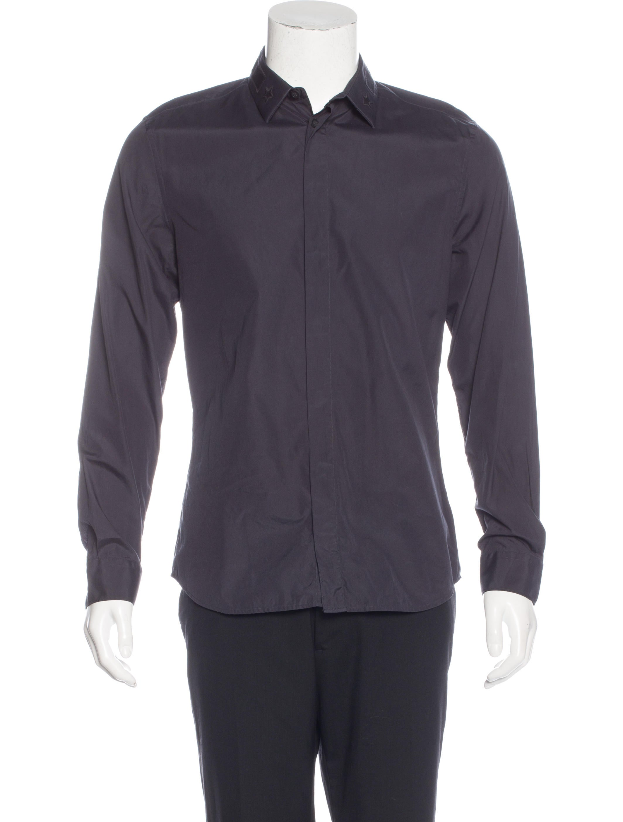 Givenchy star embroidered button up shirt clothing for Givenchy 5 star shirt