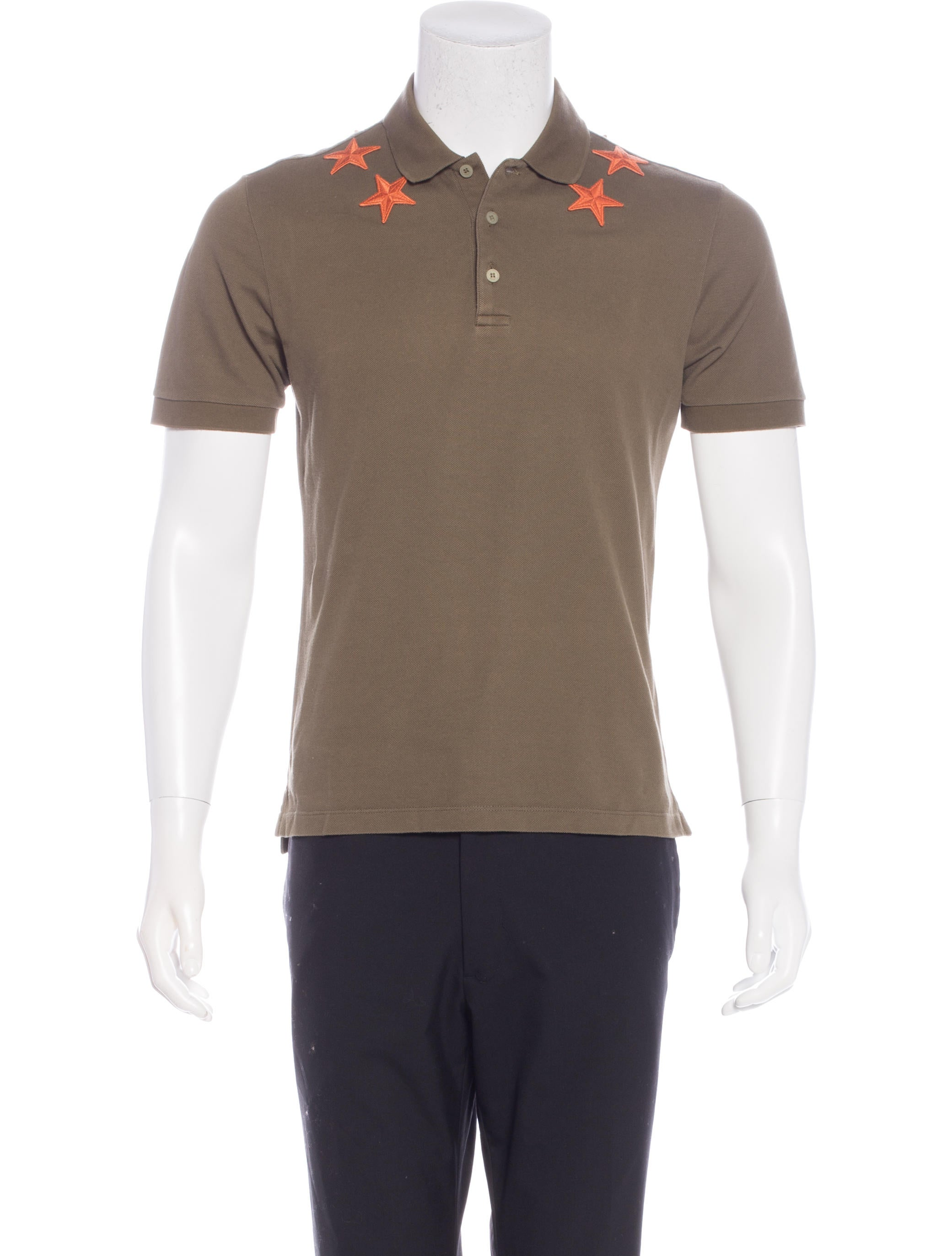 Givenchy star embroidered polo shirt clothing giv39630 for Polo shirts with embroidery