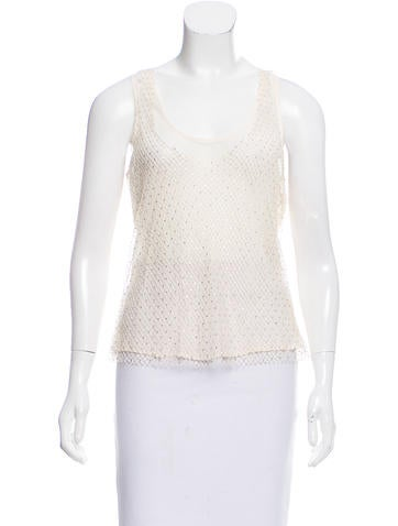 Givenchy Crystal-Embellished Silk Top None