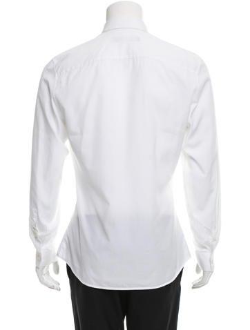 Givenchy tuxedo button up shirt clothing giv39946 for Tuxedo shirt black buttons