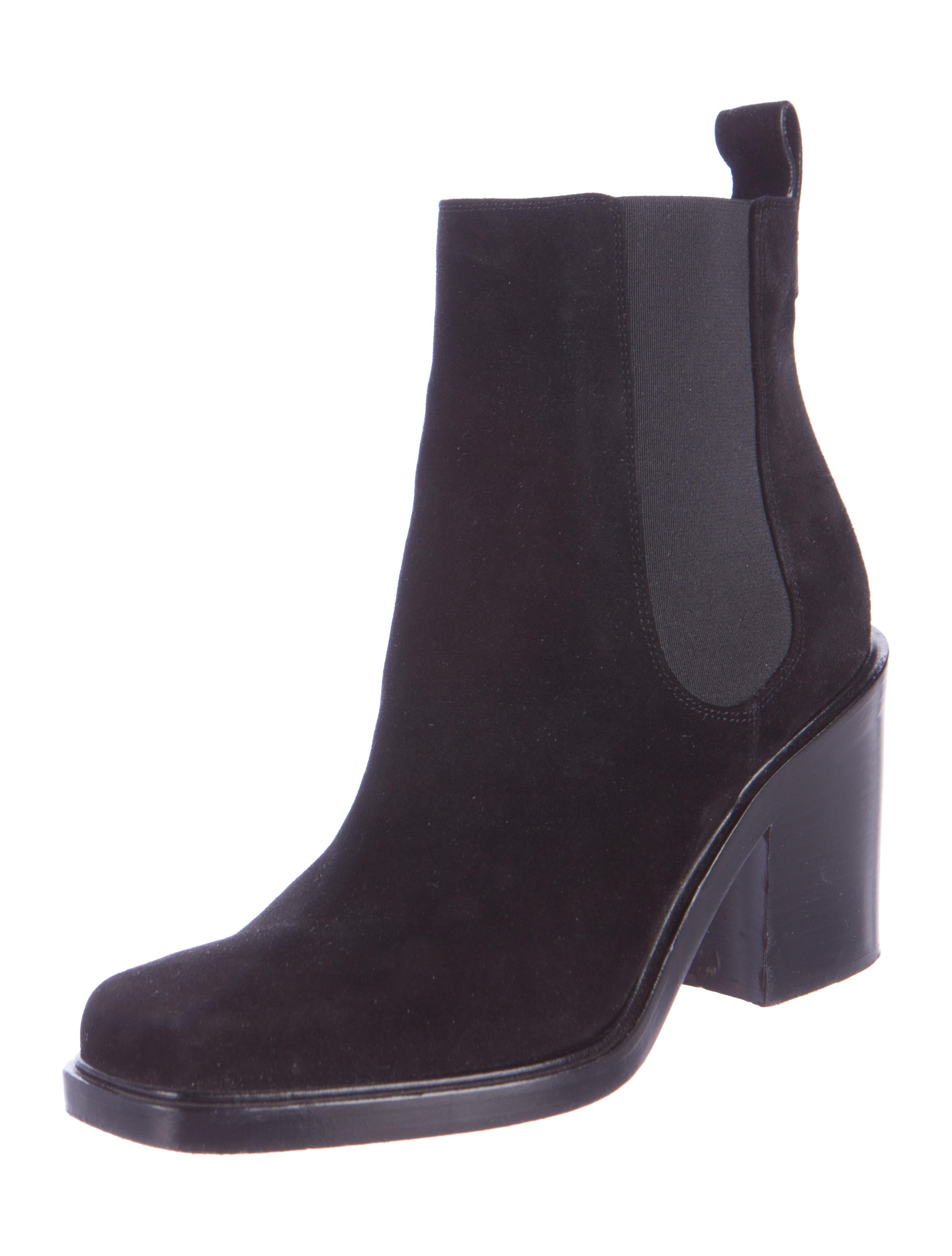 givenchy suede square toe ankle boots shoes giv40041