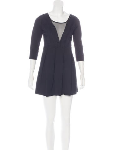 Givenchy Pleated Mini Dress None