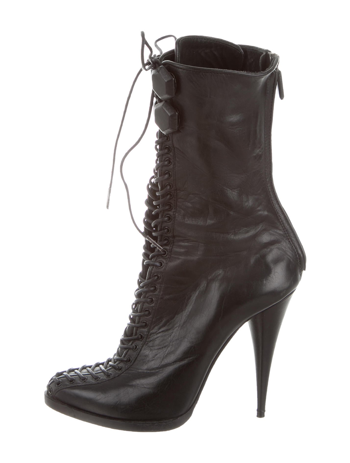 givenchy lace up ankle boots shoes giv40477 the realreal
