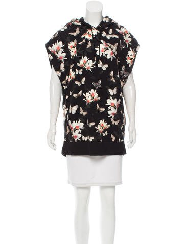 Givenchy Butterfly Print Sleeveless Sweatshirt None