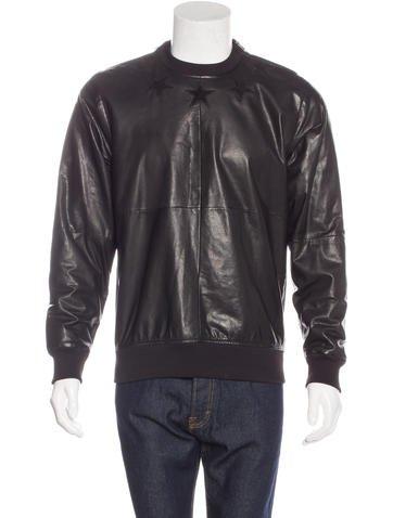 Givenchy Leather Paneled Sweatshirt None