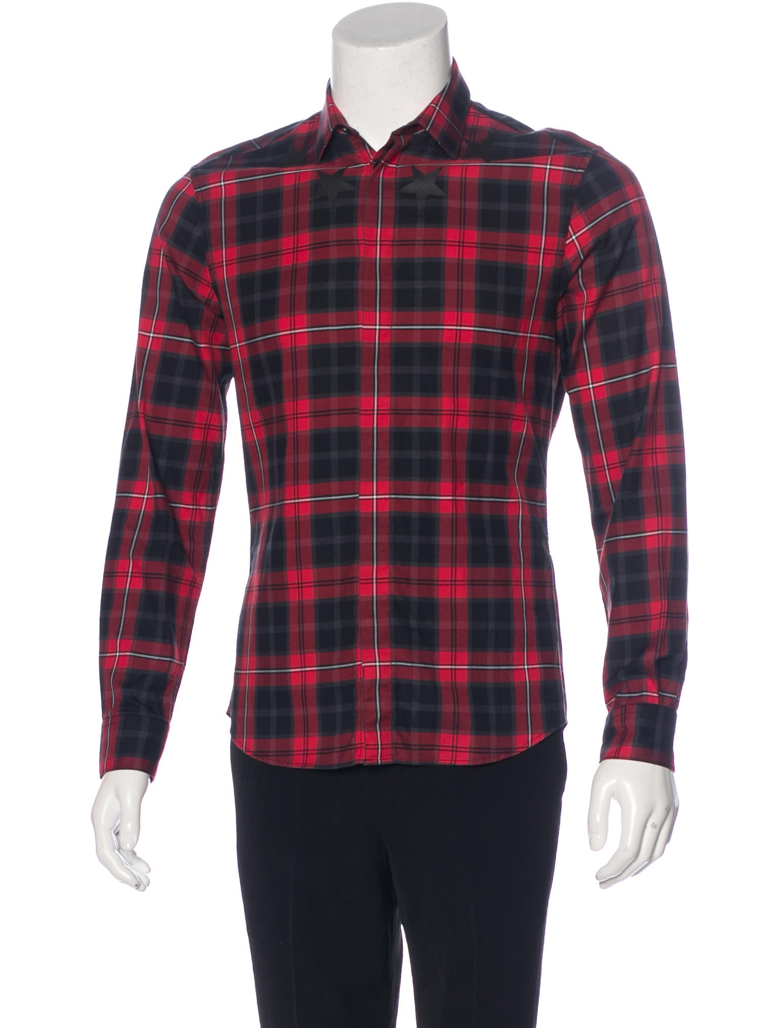 Givenchy 2015 plaid star shirt clothing giv41376 the for Givenchy 5 star shirt