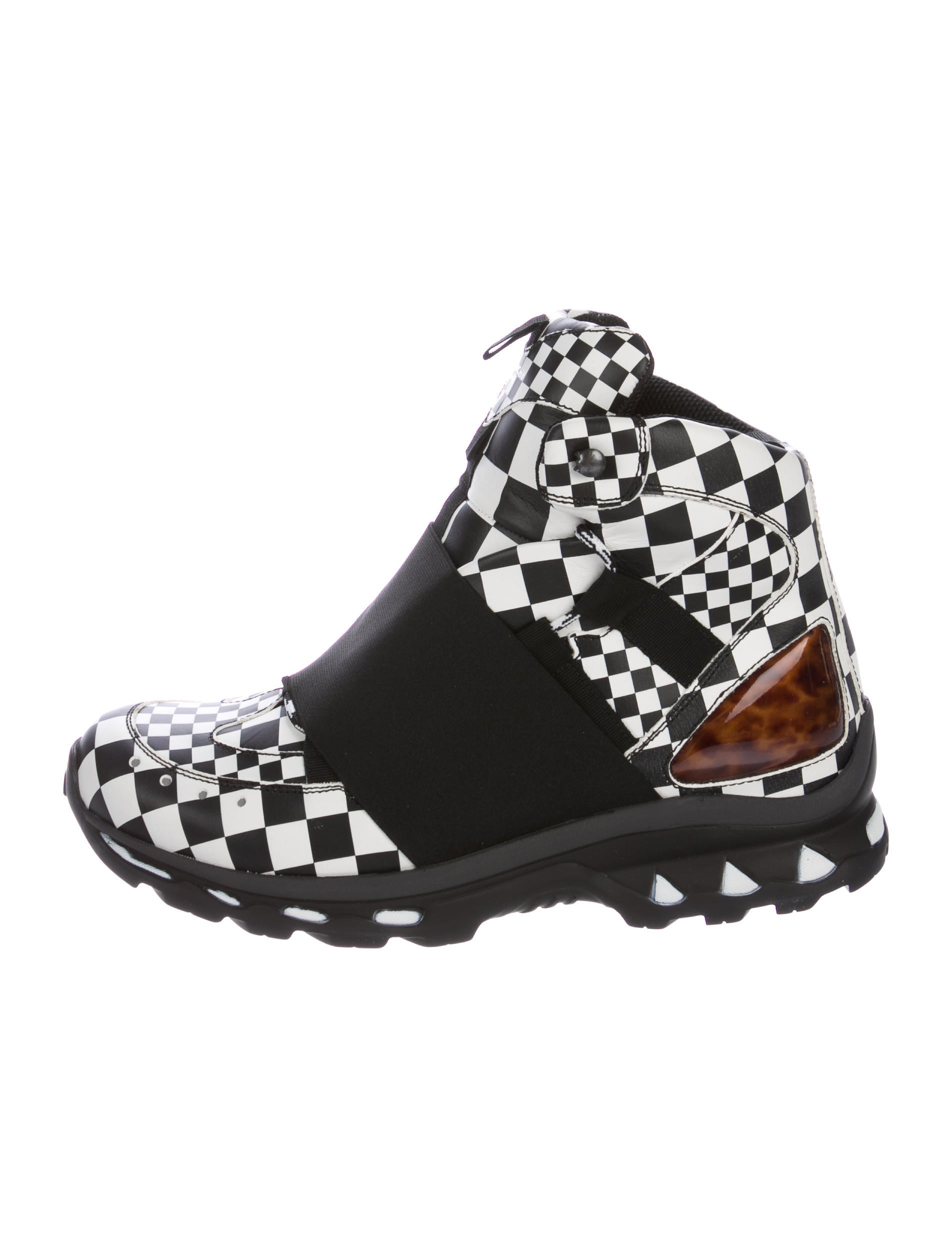 Givenchy Checkered Trail Boot Leather