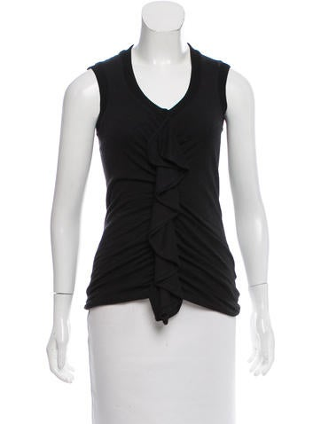 Givenchy Sleeveless Wool Top None