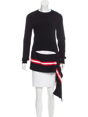 Givenchy Striped High-Low Sweater None