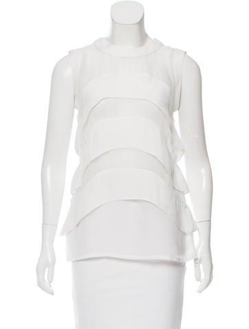 Givenchy Semi-Sheer Sleeveless Top None