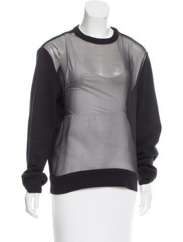 Givenchy Sheer-Paneled Oversize Sweatshirt None