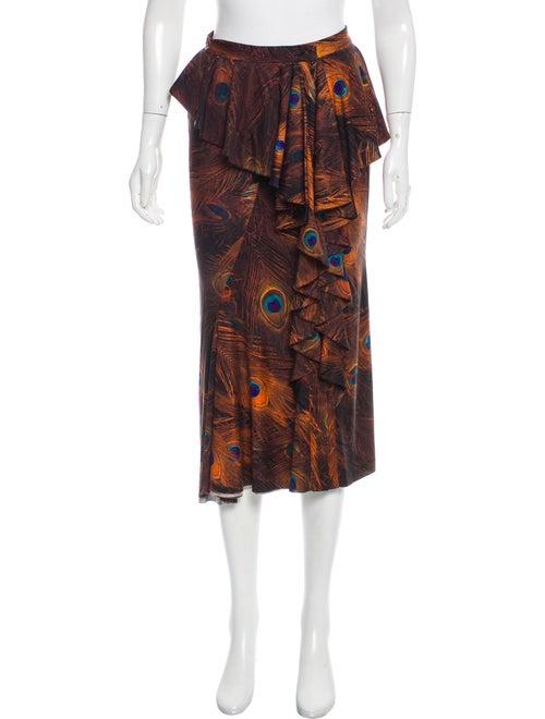 Givenchy Silk Midi Skirt Multicolor