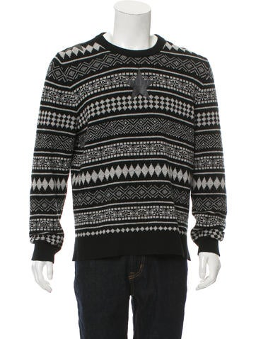 Givenchy Wool Fair Isle Knit Sweater None