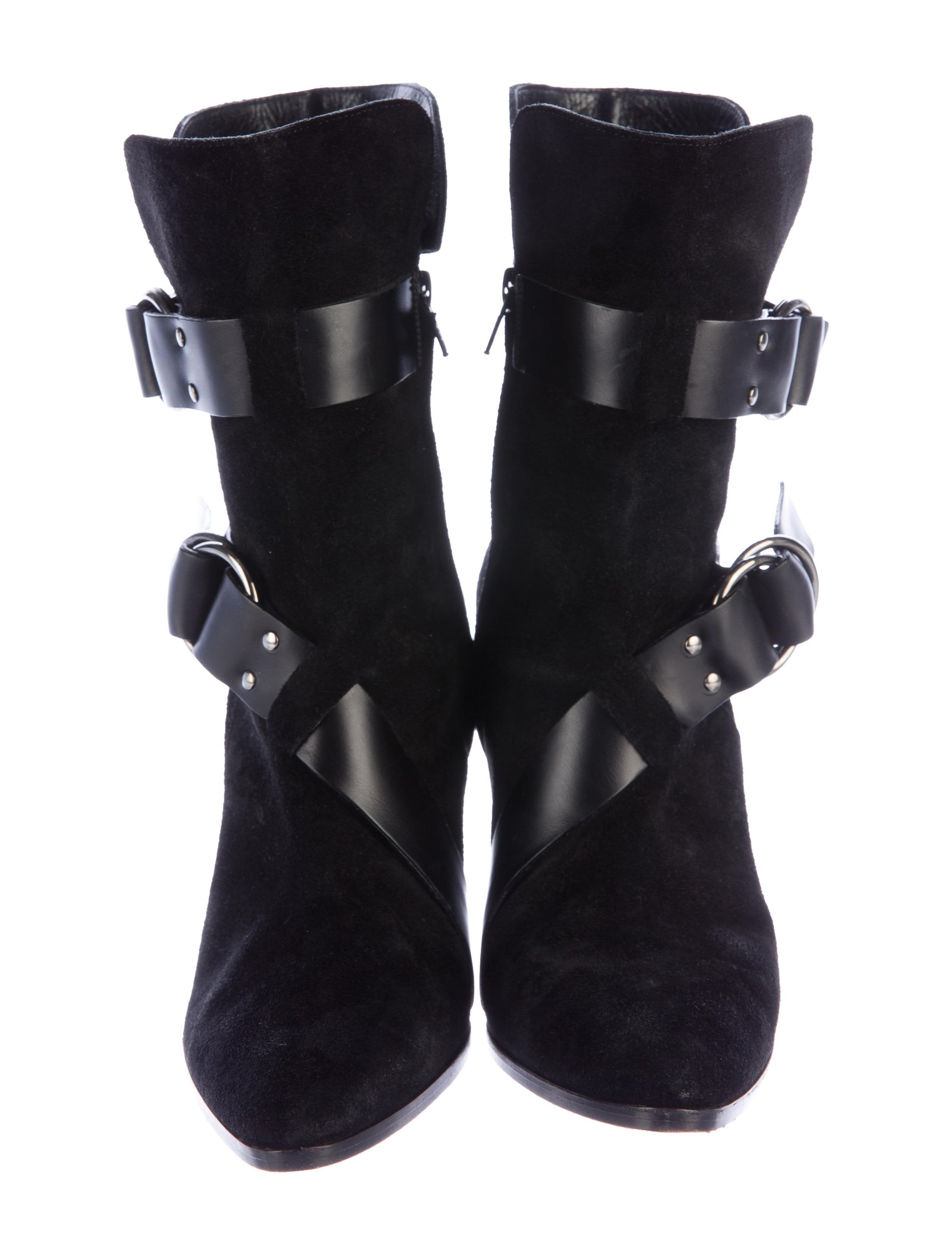 givenchy suede wedge boots shoes giv42035 the realreal