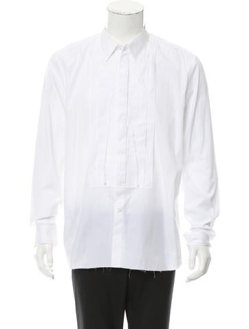 Givenchy Frayed Button-Up Shirt None