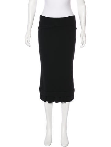 Givenchy Wool Strapless Dress None
