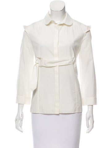 Givenchy Belted Button-Up Top None