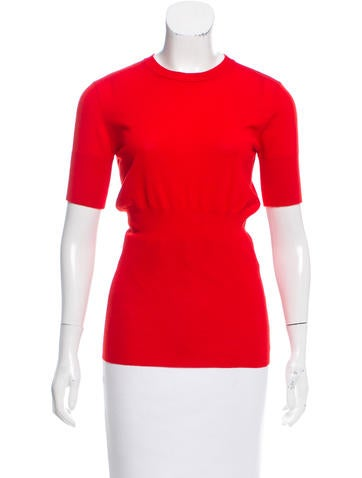 Givenchy Short Sleeve Wool Top None