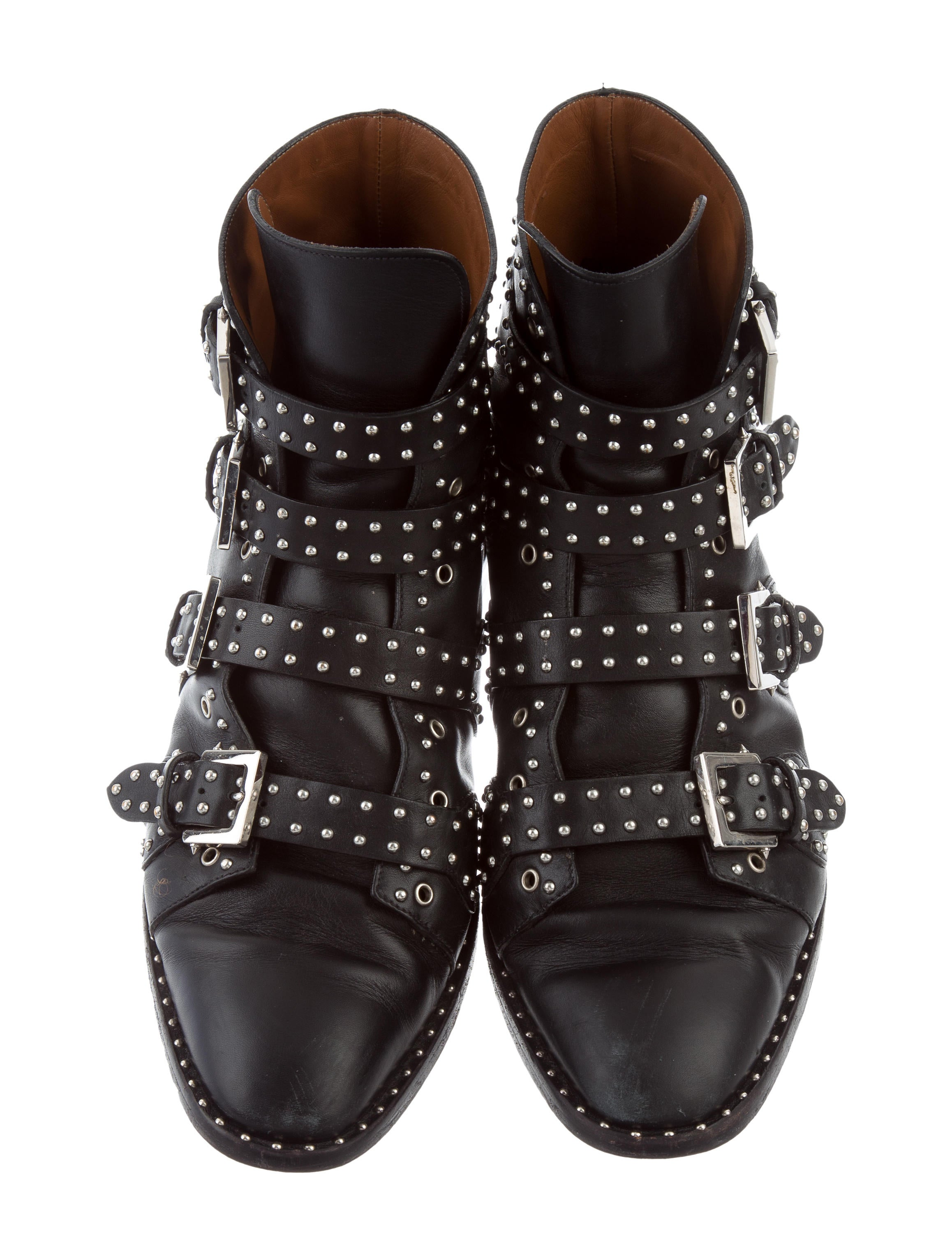 Givenchy Studded Leather Boots Shoes Giv42951 The