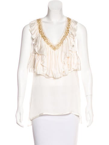 Givenchy Silk Embellished Top w/ Tags None
