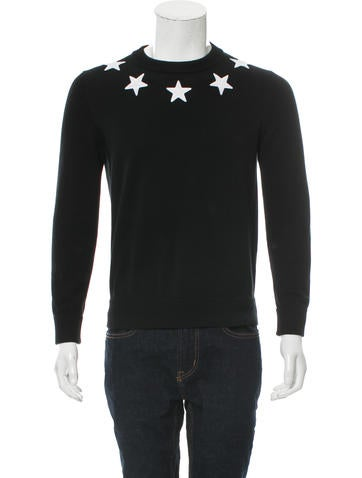 Givenchy Star-Embroidered Crew Neck Sweater None