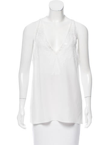 Givenchy Lace Sleeveless Top None