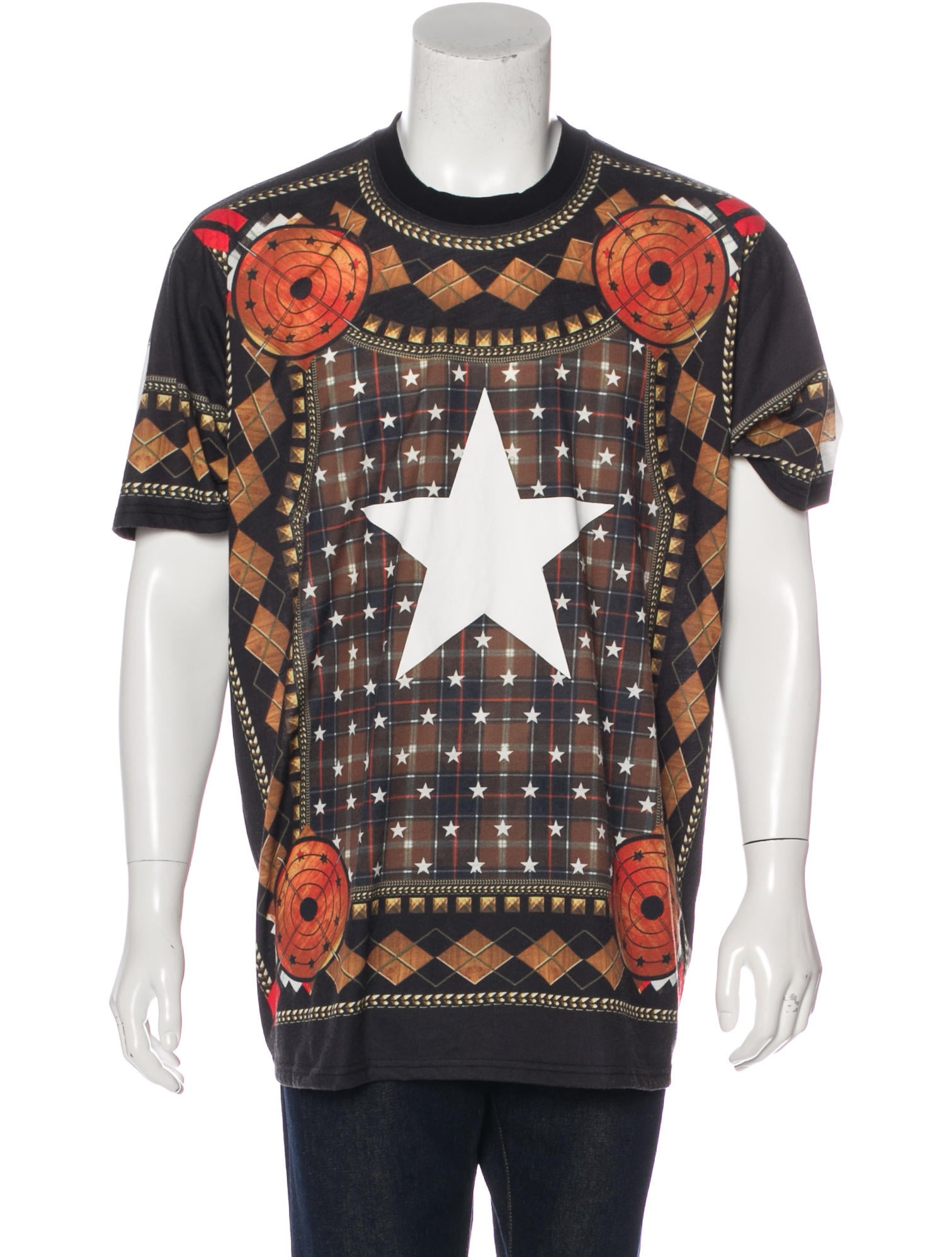 Givenchy argyle plaid star t shirt clothing giv43363 for Givenchy star t shirt