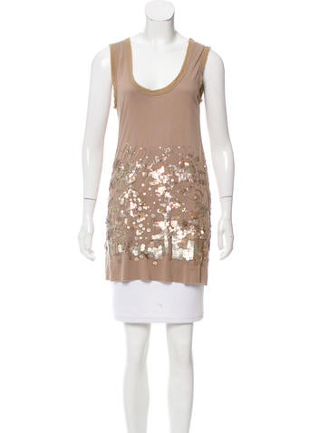 Givenchy Sleeveless Sequined Top None