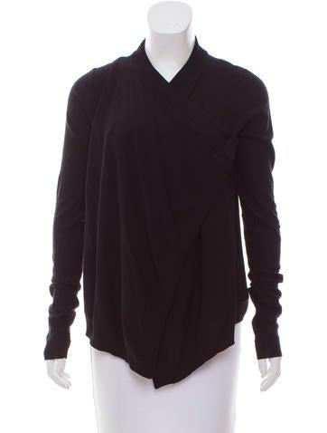 Givenchy Asymmetrical Wool Cardigan None