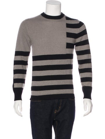 Givenchy Striped Mohair-Blend Sweater None
