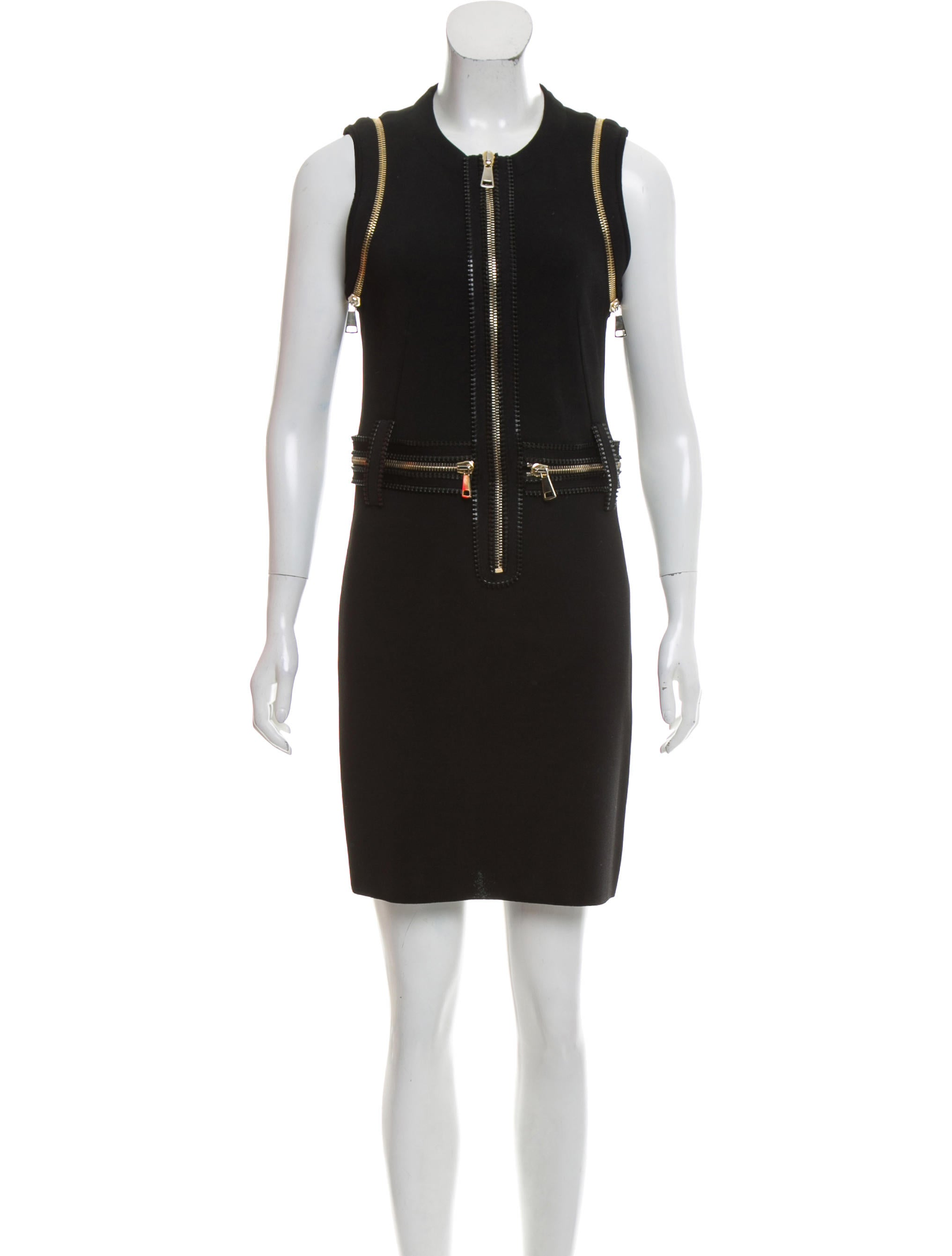 Givenchy Zipper Accented Mini Dress Clothing Giv43742